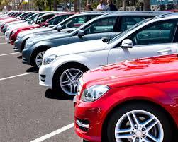 Ряд автомобилей